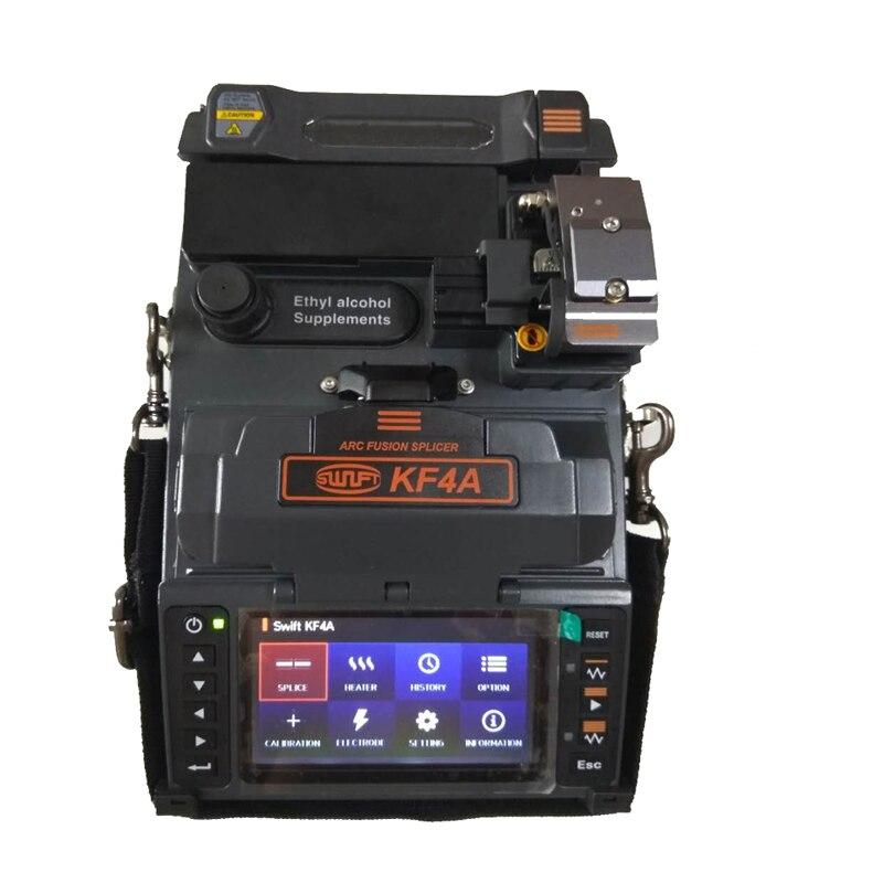 ILSINTECH Splicer Fusão de Fibra Rápida KF4A V-groove Alinhamento Coréia Handheld máquina de Emenda de fibra preço com menu inglês