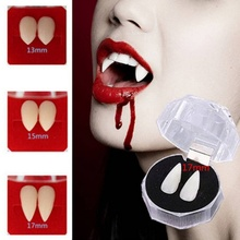 2pc Scary Halloween Cosplay Props Dentures Zombie Vampire Teeth Ghost Devil Fangs False Tooth Costume Party Accessory