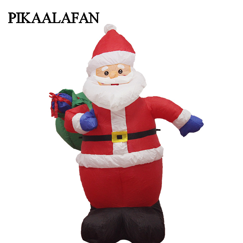 PIKAALAFAN Inflatable Model Santa Claus Goes Up And Down Chimneys Light Christmas Decorations Courtyard Decoration Gifts inflatable father christmas inflatable characters christmas decorations store display santa claus 6 m high classic type