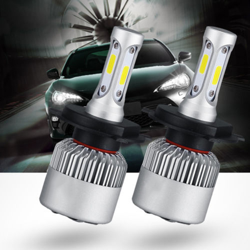 2PC 9006 HB4 8000LM LED Headlight Kit Low Beam Bulbs Lamp 6000K White High Power