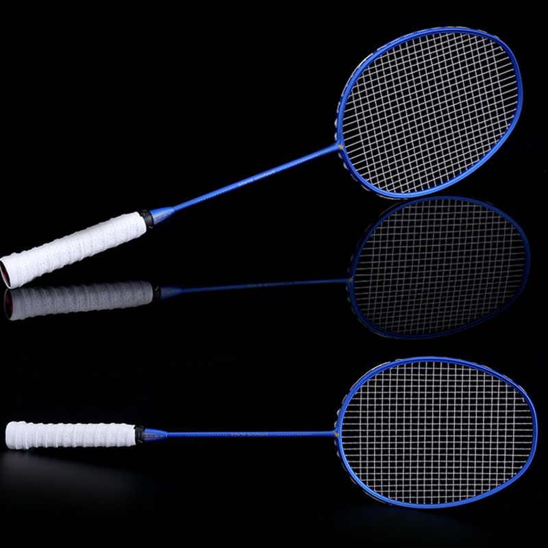 Graphite Single Badminton Racquet Professional Carbon Fiber Badminton Racket with Carrying Bag KH889