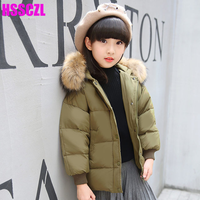 Aliexpress.com : Buy HSSCZL Girls Down Jacket winter 2017 Brand ...