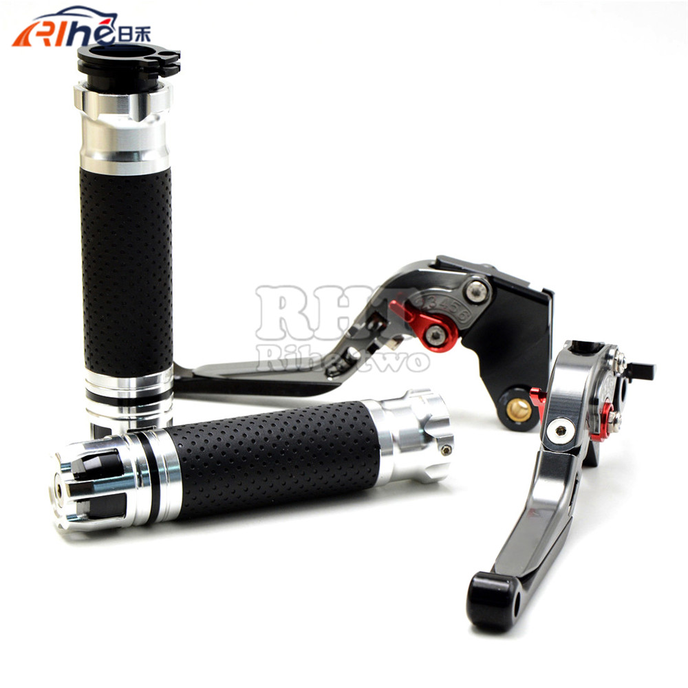 CNC Handlebar Motorcycle Handle Bar Grips Adjustable Clutch Brake Levers For KTM 990 Adventure 2009 690SMC 690 SMC 2012 2013. billet alu folding adjustable brake clutch levers for motoguzzi griso 850 breva 1100 norge 1200 06 2013 07 08 1200 sport stelvio