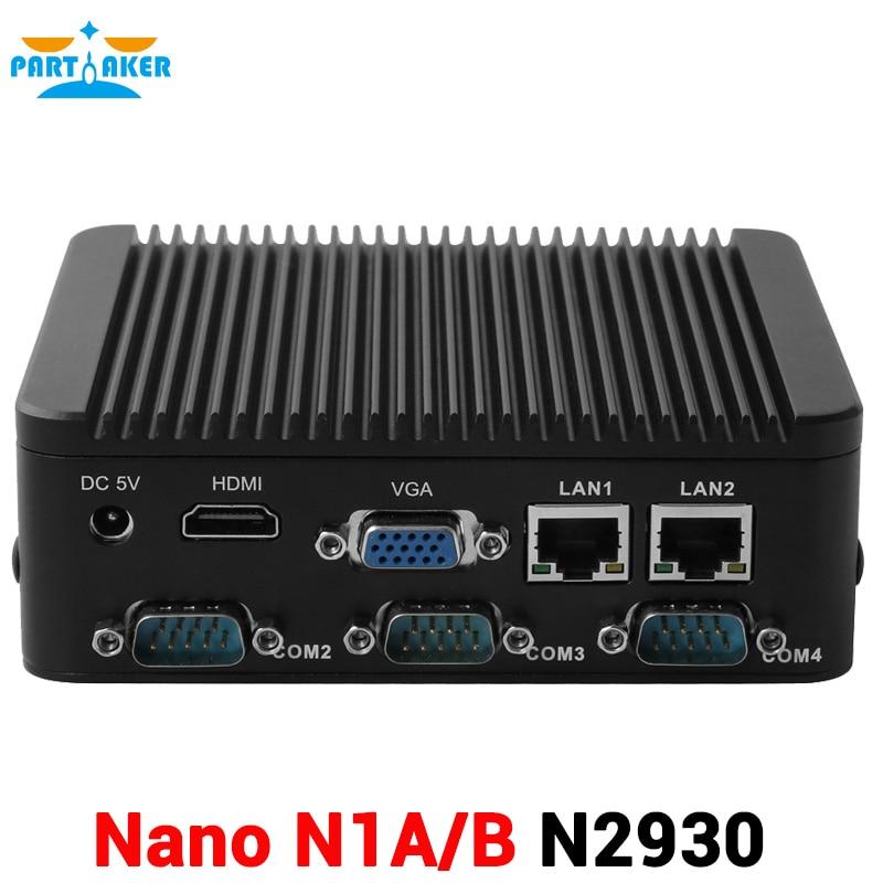 One or Four COM TF Card Industrial Intel Celeron N2930 2.0Ghz Processor Quad Core 2 Ethernet Mini PC
