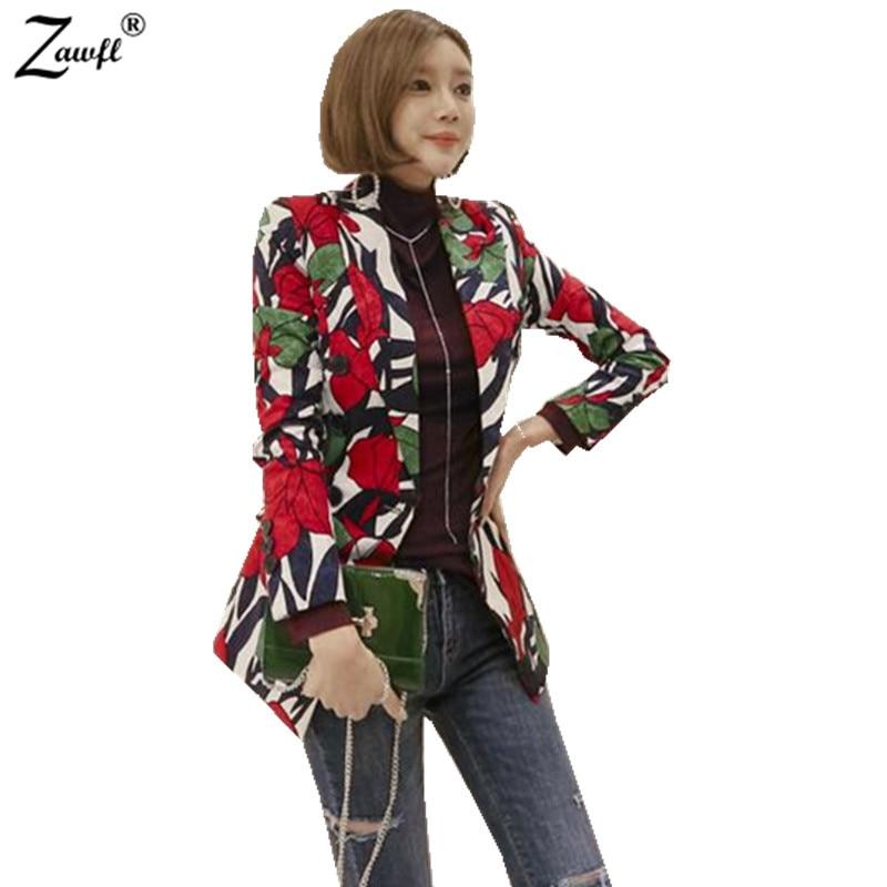 ZAWFL 2018 vacation women Summer trench coats Floral gray trench coat trench women coats office outwear OL Loose tops 1