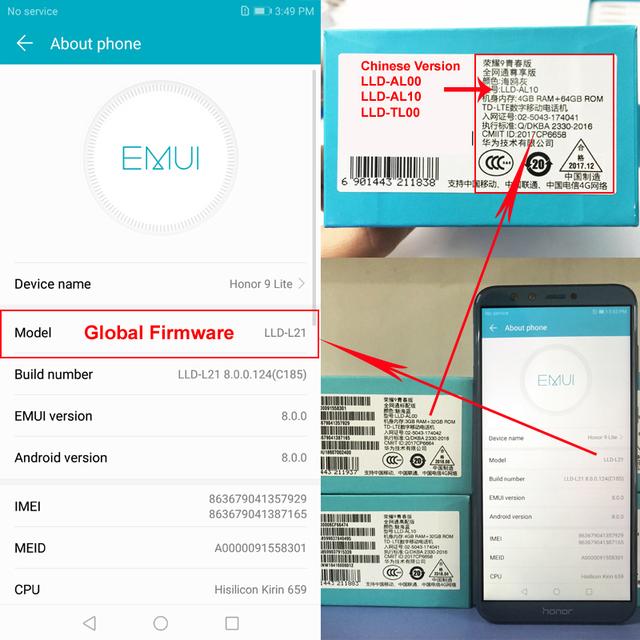 Global Rom Huawei Honor 9 Lite 5 65 Full View Screen 2160*1080Pix