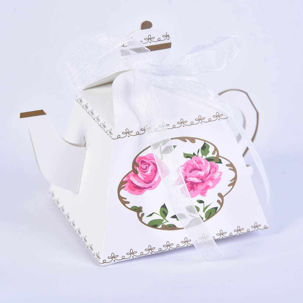 Teapot shape Candy Boxes Kraft Bag Paper Popcorn Box Goodie Bags Gift Bag Kids Party Favors Candy Bag Birthday Decor June 9