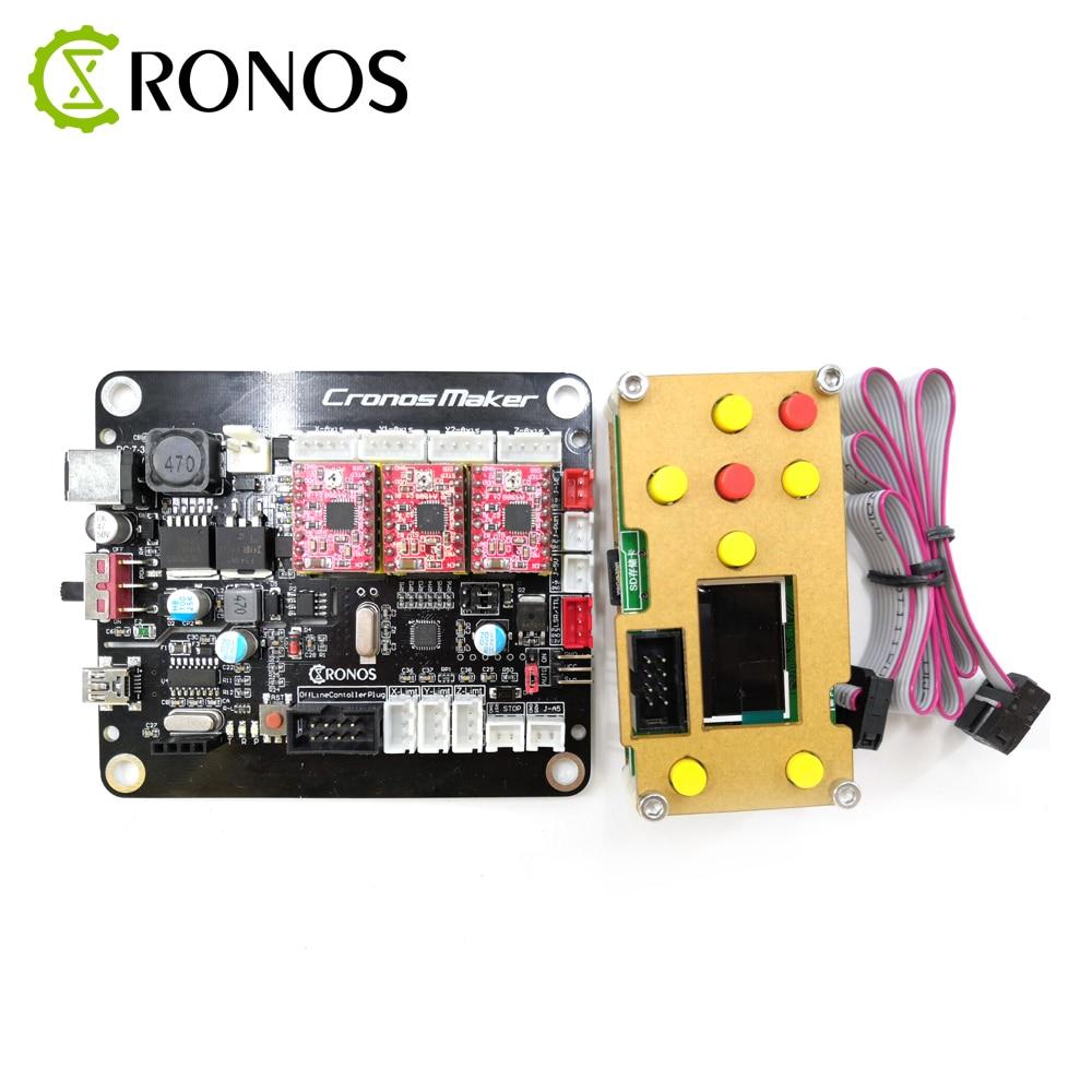 Grbl 0.9 ou 1.1 placa de controle do controlador 3 eixo motor deslizante com offline duplo y eixo usb driver board para cnc gravador a laser
