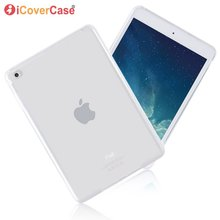 Case For iPad Mini 4 Soft Silicone Protective Cover Shell Clear TPU Case For App