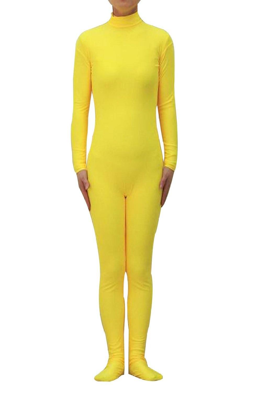 Sexy Fullboby Yellow Zentai Lycra Spandex Combinaison Costume Sexy Halloween Party Cosplay Zentai Catsuit Custom