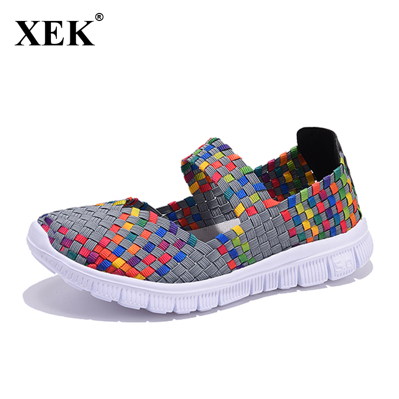 2017 New Women Shoes Summer Breathable Fashion Lady Casual Shoes Slip on Girls Handmade Women Light Woven Flat Shoes XC26 2016 year end clearance sale women casual shoes summer lady soft fashion shoes high quality breathable shoes mm x02