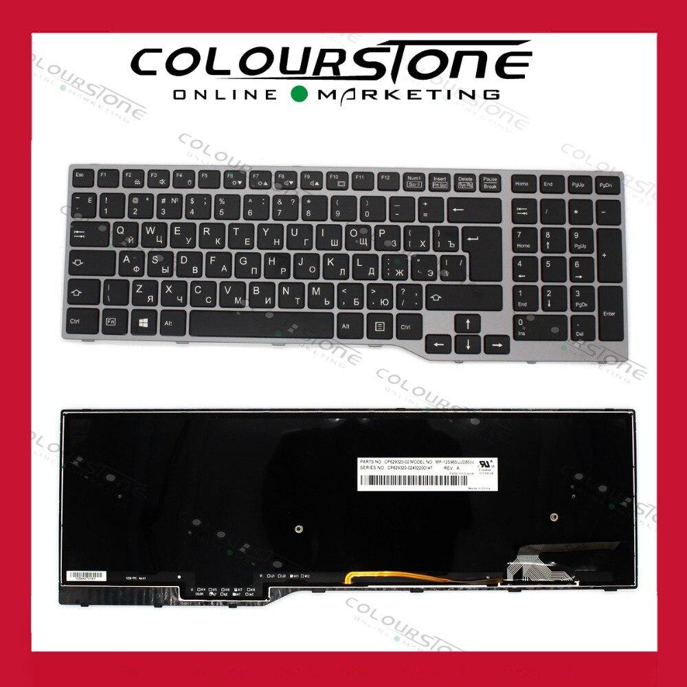 NEW RU Russian Keyboard For Fujistu E754 Lifebook E753 MP-12S96SUJD85W Laptop Keyboard With Frame And Blacklit