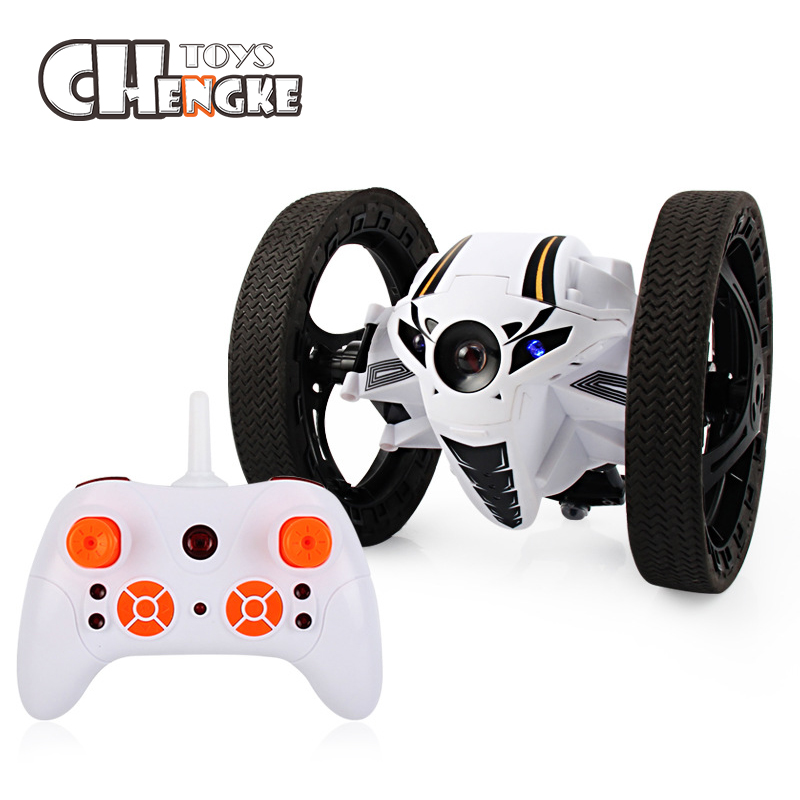 2018 Hot Mini Bounce RC Cars 2.4GHz Strong Jumping RC Car With Flexible Wheels Remote Control Car For Kids Gifts Robot Toys цена 2017