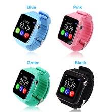 2016 Последним V7kGPS smart watch для детей с SOS Вызова вызов напоминание Расположение для Безопасности детей Анти-Потерянный Монитор Chritmas подарок
