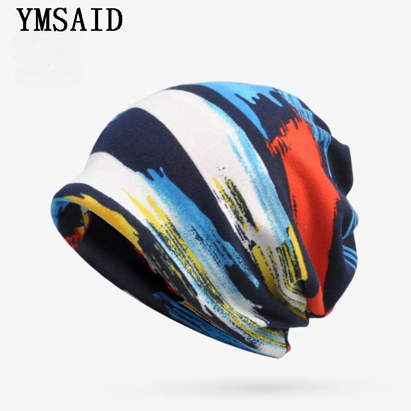 New Autumn Hat   Beanie   Turban Hats For Women Men Plus Velvet Warm Stripe   Skullies     Beanies   Hat Male Bone Cap Bib Casquette Femme