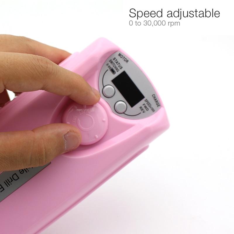 Máquina recargable eléctrica de taladro para uñas 20W 30000 RPM - Arte de uñas - foto 4