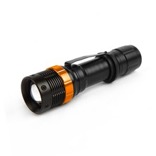 Everbrite 3W Adjustable LED Flashlight Mini Aluminum Torch light Zoom in and Zoom out led torch flashlight
