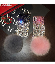 Phone Case Lovely Bling Crystal Diamonds Rhinestone 3D Stones Soft Back Cover For iphone 11 12 Pro X XS MAX XR 6 6S 7 8 PLUS