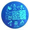 1 pcs Sexy Projetos Gatos Ferramenta Da Arte Do Prego Stamping Template Manicure # STZA28 5.5 cm de Diâmetro