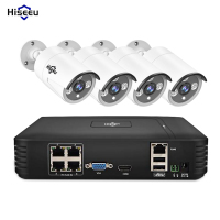 Hiseeu 4CH 720P 1080P POE NVR Kits CCTV System Kits Waterproof IP66 Camera IR Outdoor P2P