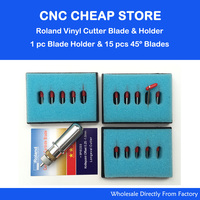 1pc Roland Blade Holder 15pcs 45 Degree Blades For Roland GCC LiYu HX YH RJ HF