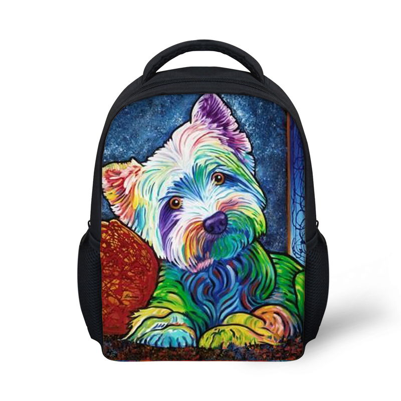 Children school bags dog Print kindergarten backpack girls Yorkshire Terrier schoolbag kids mochila escolar