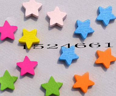 15mm Five-pointed Star Wooden Beads 24pcs/lot *lot flatback other jewelry spacers made in china watch aliexpress