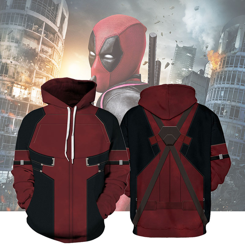 Superhero <font><b>Hoodies</b></font> Kids Sweatshirt Harajuku Deadpool Avengers Pullovers <font><b>3D</b></font> Printed Teenager Boys <font><b>Hoodies</b></font> Thin <font><b>Unisex</b></font> Kid Clothes image
