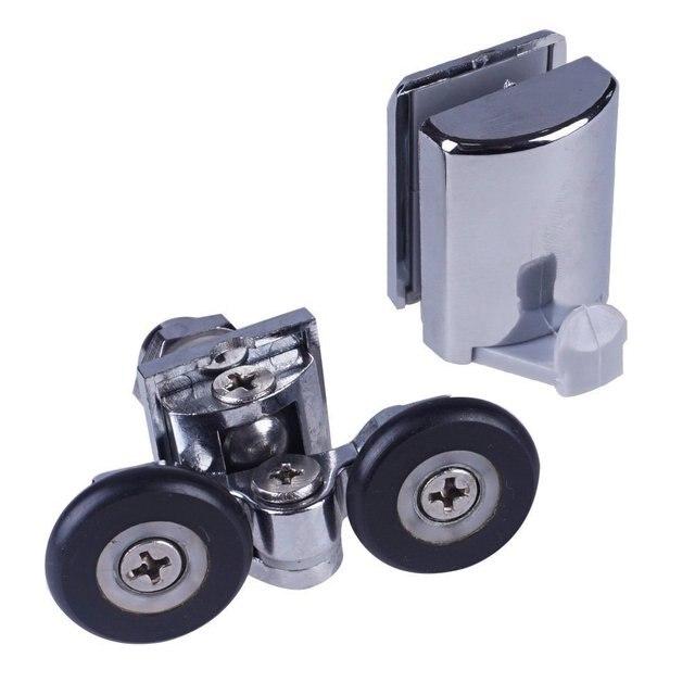 set von 2 duschtr rollenluferhakenfhrungen 25mm rder diameter904h106 - Duschtur Rollen