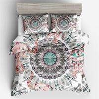 Boho Mandala Pattern 3D Digital Printed Duvet Cover Pillowcase Set Single Double Bed Twin Queen King