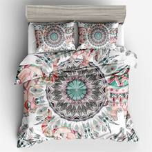 Boho Mandala Pattern 3D Digital Printed Duvet Cover Pillowcase Set Single Double Bed Twin Queen King Size 2/3Pcs Bedding Sets pink mandala flower bedding duvet cover set digital print 3pcs