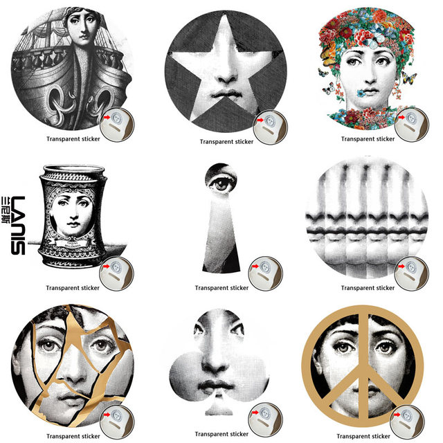 NO197 220 Designer Fornasetti Wallpaper Transparent Stickers Wall For Decoration