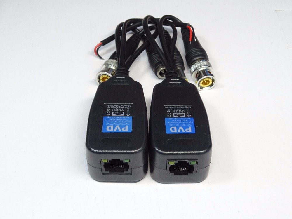1 Pair Viedo Balun Three In One High-definition Transmitter Video / Power Multifunction With RS485 Twisted Pair Conveyor,sn:PVD