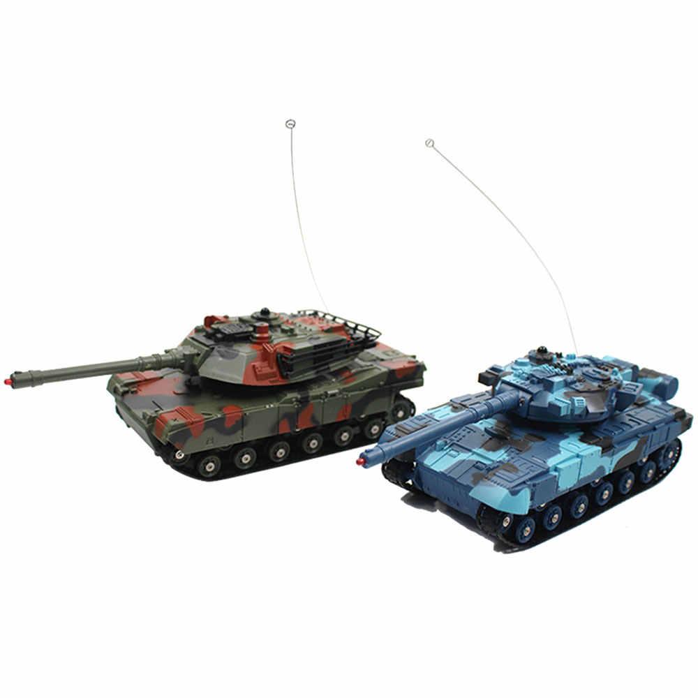 Боевой танк Rc танк автомобиль пульт дистанционного управления Танк 2 шт многоцветная способность начала Декор на открытом воздухе вращающийся Радиоуправляемый игрушечный автомобиль игрушечный танк игрушка