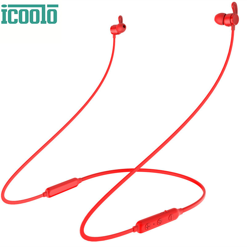 ICOOLO B-X9 Headphones Wireless Earphone Stereo Music Bluetooth Waterproof Earphones Magnetic Sport Earbuds for Iphone Android