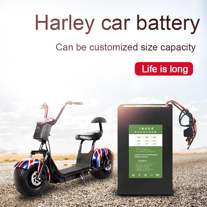 Kanavano 60v 20AH lithium ion battery Li ion Battery Pack Capacity for harley scooter LiFePO4 for Bikes eletric vehicle 18650