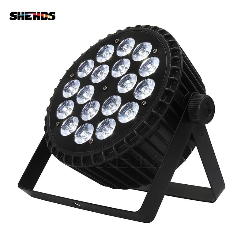 Aluminum Alloy LED Par 18x18W RGBWA UV 6in1 LED Par Can Sound Action Flat Par Light