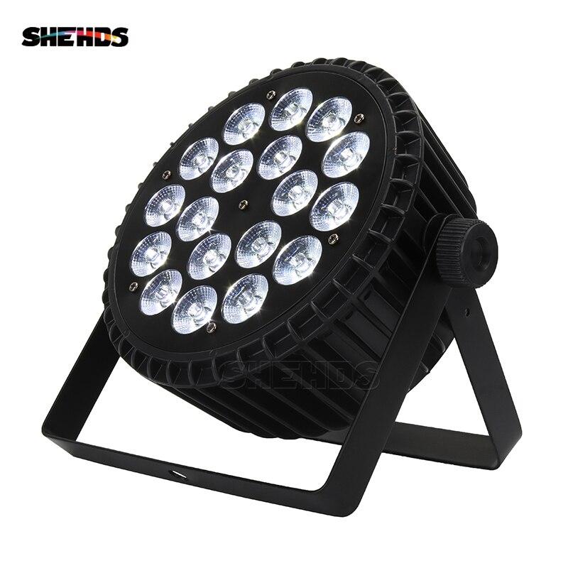 Алюминий сплав светодиодный Par 18x18 W RGBWA + УФ 6in1 светодиодный Par может звучать действие без каблука Par свет этапа DMX Освещение или вечерние KTV Disco...