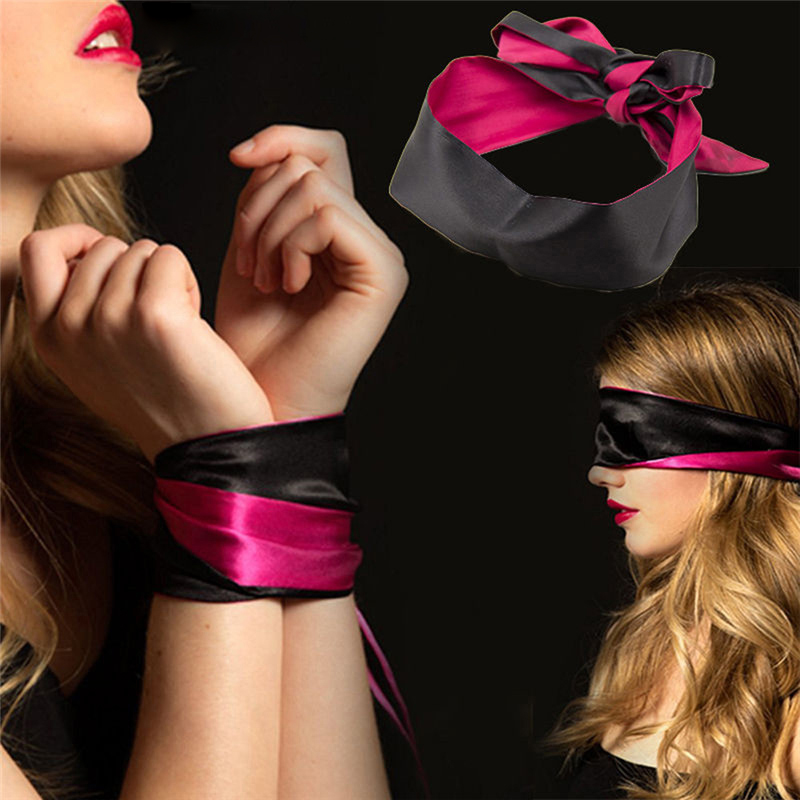Flirting-Blindfold-Handcuff-Soft-Satin-Eye-Patch-Mask-Bondage-xDouble-Layer-Blind-Mask-for-Sleep-Rest