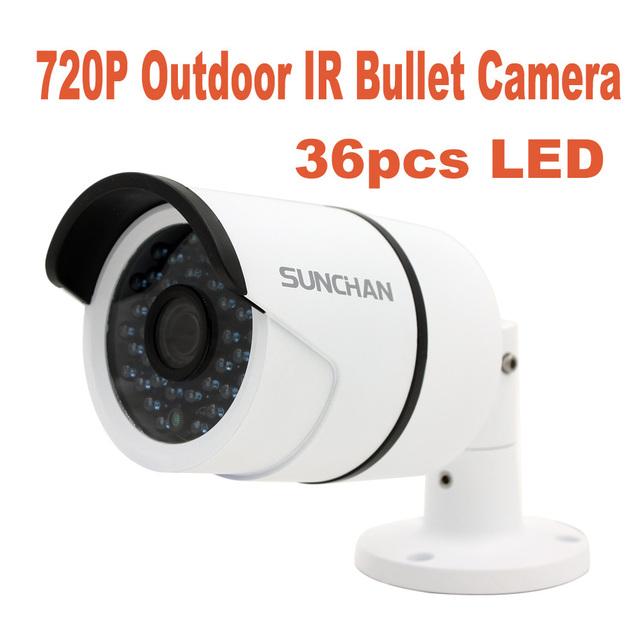 Sunchan câmera 1/4 ''cmos 1200tvl vigilância 1.0mp ahd analógica de alta definição 720 p ahd-m cctv câmera de segurança ao ar livre ir cut