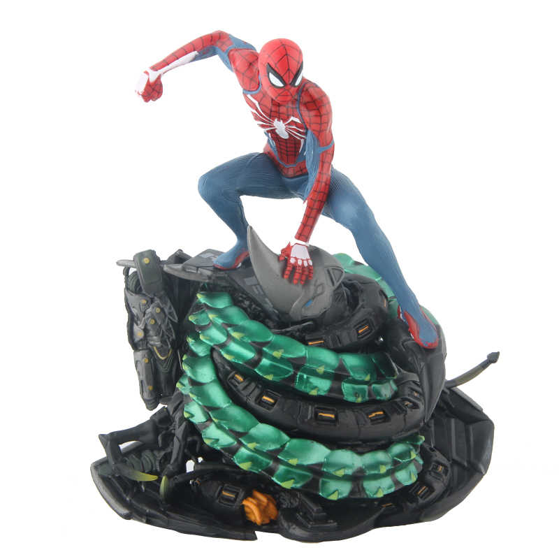 Vingadores da Marvel Spider-man Spiderman PS4 Collectors Edition Estátua PVC Figura Collectible Toy Modelo