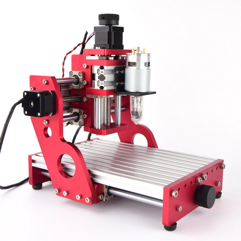 US $573 29 37% OFF|CNC 1419 small desktop metal engraving cutting machine  wood router aluminum copper wood pvc pcb carving machine,cnc1419 router-in