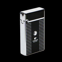 COHIBA Portable Carré Blanc Plaid Motif Titane Allume-cigare