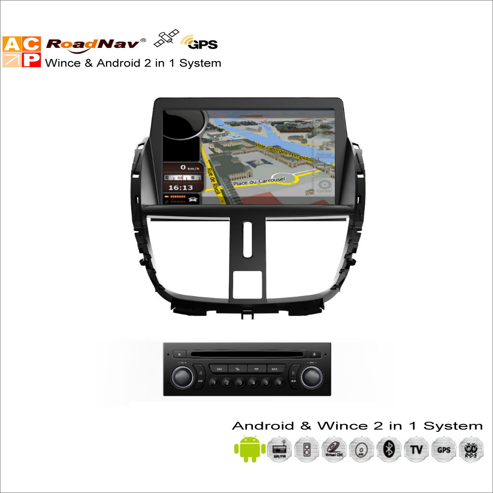 Android Car Multimedia Stereo Para Peugeot 207/206 + 2009 ~ 2013-Radio CD Reprod