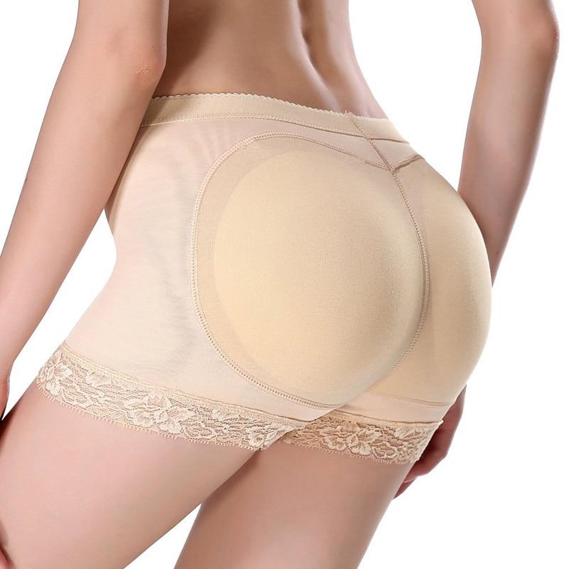 Women Lace Butt Lifter Padded Enhancer Panties Underwear