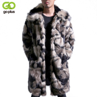 GOPLUS Male Winter Autumn Imitation Mink Coat Large Size Turn Down Collar Man Faux Fur Coats