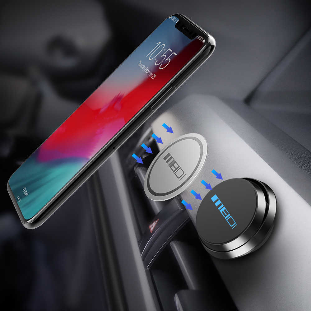MEIDI حامل هاتف السيارة المغناطيسي 360 درجة تدوير سيارة مهد دعم الهاتف الذكي لتحديد المواقع حامل الدوران حامل