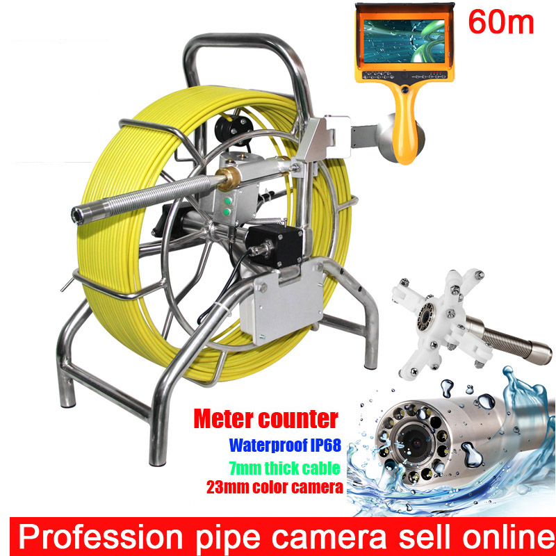 Оригинальный мм 100 м 7 мм кабель 23 мм камера головка канализационная водостойкая камера труба трубопровод канализационная инспекционная си