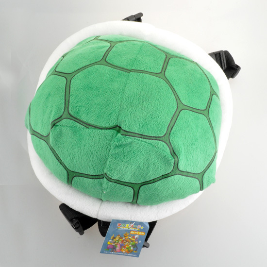 Super Mario Bros Koopa Troopa Turtle Shell Plush Backpack 25cn Green  Outdoor Travel Bag School Bag for Kids Girls Boys WIth Tag 12370c5f0e7e0