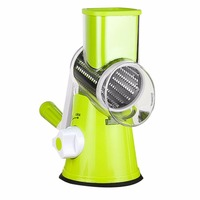 PREUP Stainless Vegetable Shredder Hand Rotary Grater Shred Potato Slicer Roller Shape Stainless Steel Crank Handle